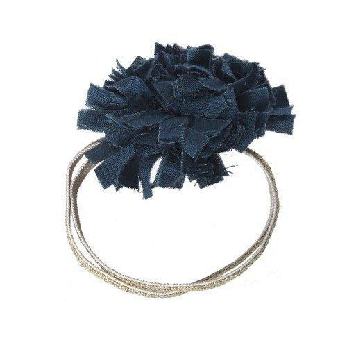 Резинка для волос, темно-синяя