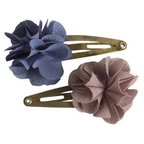 Заколки для волос Fluffy Flower, серая и коричневая