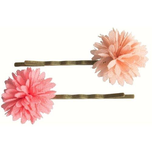 Невидимки Chiffon Flowers, пудровая и коралловая chic flowers painting pattern chiffon sarong for women