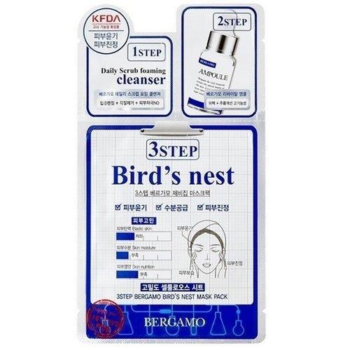 Трехэтапная маска для лица с ласточкиным гнездом bergamo маска трехэтапная для лица увлажняющая 3step aqua mask pack 8 мл