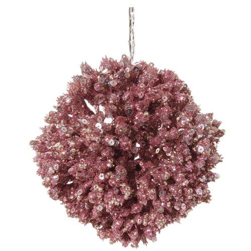 цена на Елочный шар, 9 см, розовое золото