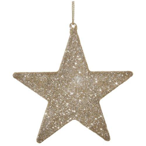 Елочное украшение Звезда, 13 см украшение елочное звезда барокко 8 8 см черный золотой 1 шт в пакете
