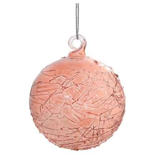 Елочный шар с линиями, 6 см, медный елочный шар снежное плетение ку 65 11 17 диаметр 6 5 см