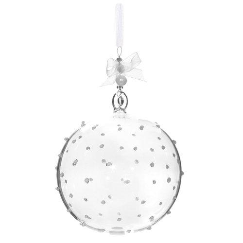 Елочный шар с точками, 9 см дизайнерский елочный шар на подставке quelle russian elka 1021263
