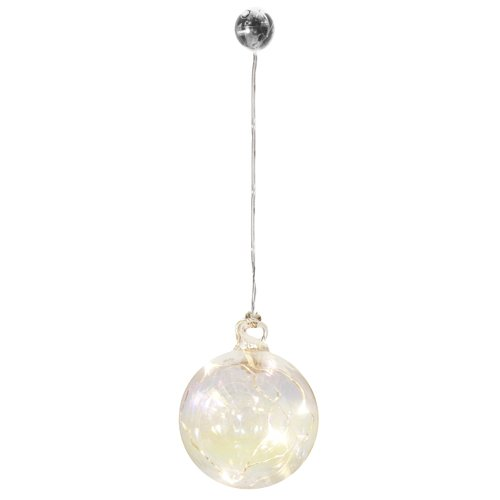 Елочный шар с LED лампочками, 8 см цена