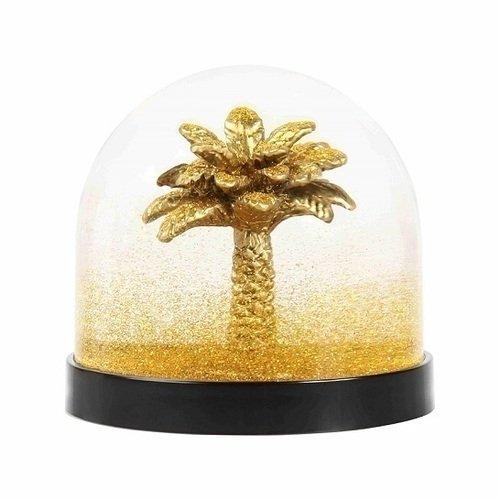Снежный шар Wonderball palm tree gold glitter, 8,5 см цена