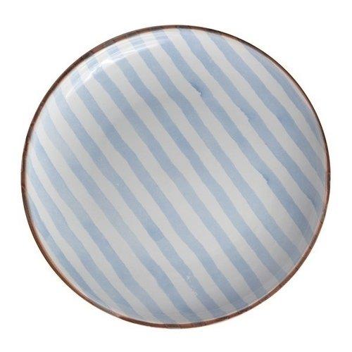 Тарелка Страйп без полей 21 см синяя