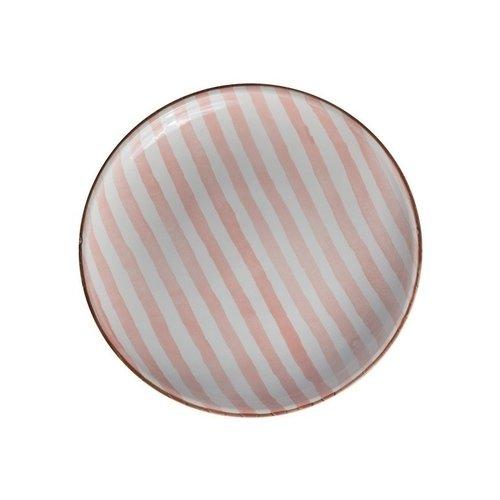 Тарелка Страйп без полей, 15 см, розовая тарелка страйп без полей 25 см синяя