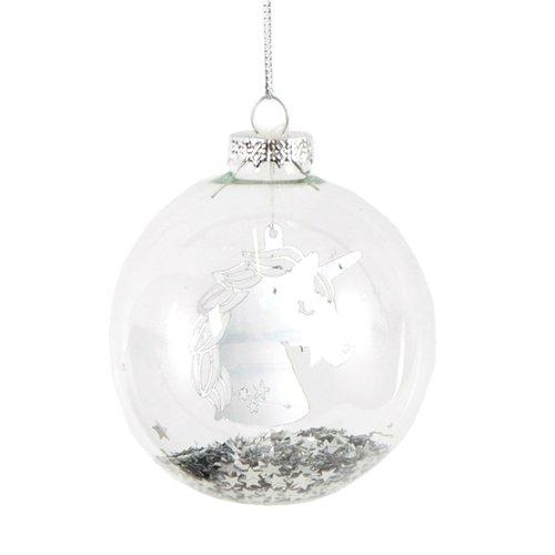 Фото - Елочное украшение Единорог, стекло украшение гр8