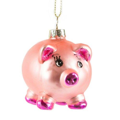 Елочное украшение Свинка, стекло елочное украшение свинка малышка символ года в подарочной упаковке 10см