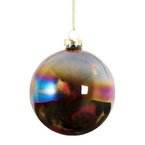 Елочное украшение Радужный шар, стекло украшение елочное шар белка 7 см стекло