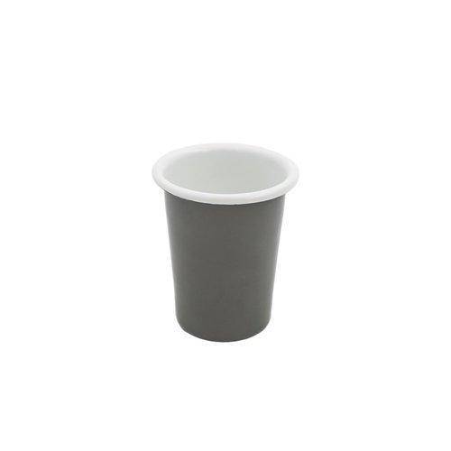 Эмалированный стакан, 250 мл, серый