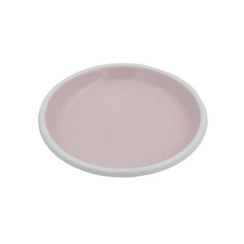 Эмалированная тарелка, 18 см, розовая