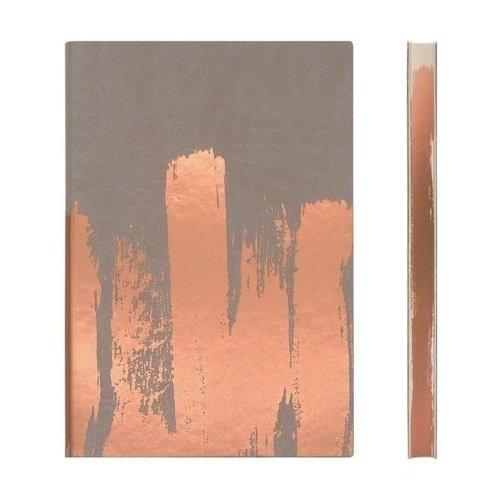 """Блокнот нелинованный """"Signature Paint Art Plain"""" А5, 88 листов, медный"""