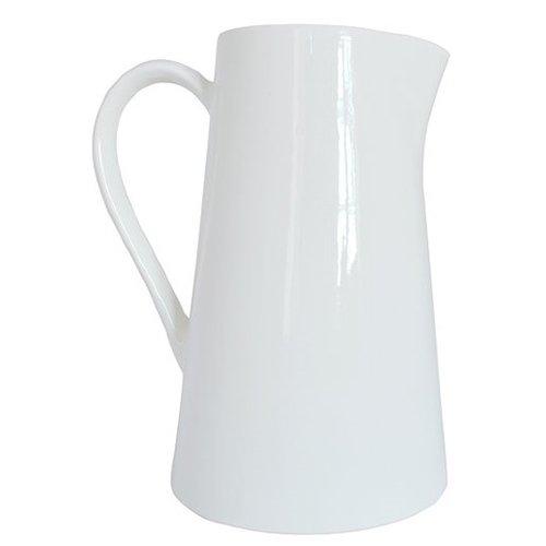 Кувшин конический, белый кувшин декоративный 15 х 13 х 24 см