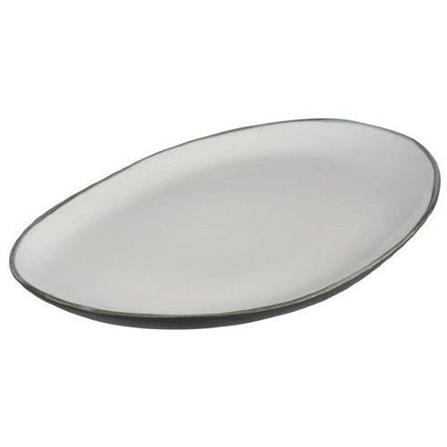 Фото - Блюдо Эклипс овальное, ассиметричное блюдо для запекания аперитив среднее керамика