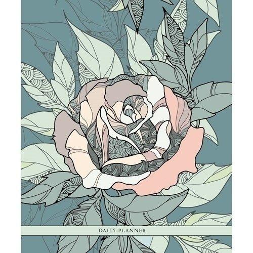 Ежедневник недатированный Хрупкая роза А5-, 128 листов ежедневник недатированный listoff орнамент павлиний окрас а5 128 листов