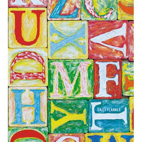 Ежедневник недатированный Разноцветные шрифты А5, 128 листов ежедневник недатированный творческий listoff орнамент яркие акценты а5 128 листов