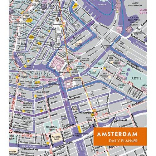 Ежедневник недатированный Графика. Карта Амстердам А5, 128 листов ежедневник listoff графика стиль и цвет а5 128 листов