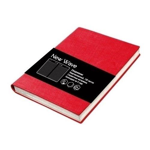 """Ежедневник недатированный """"New Wave"""" А6+, 272 стр., красный"""