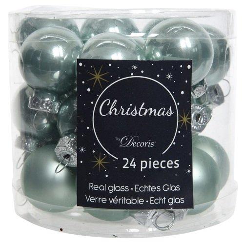 """Стеклянные шары """"Делюкс"""", 25 мм, мятные, 24 шт."""