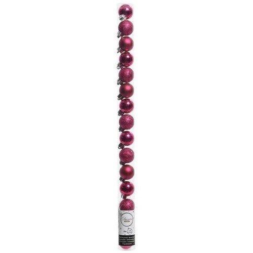 Набор пластиковых шаров, 30 мм, фуксия, 15 шт.