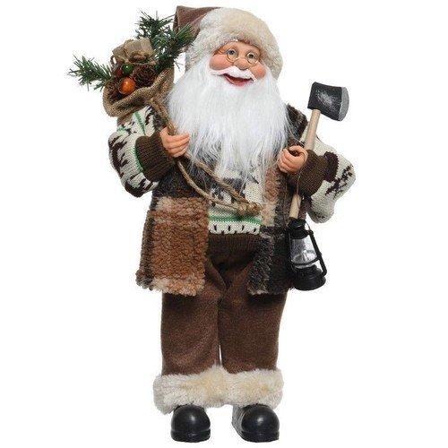 Санта с топориком и фонарем, 30 см санта с фонарем