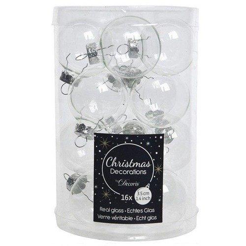 """Стеклянные шары """"Делюкс мини"""", 35 мм, прозрачные, 16 шт. гальванические стеклянные бусины с половиным покрытием серебряным граненые счеты прозрачные 10x7 мм отверстие 1 мм около 72 шт нитка 19 8"""