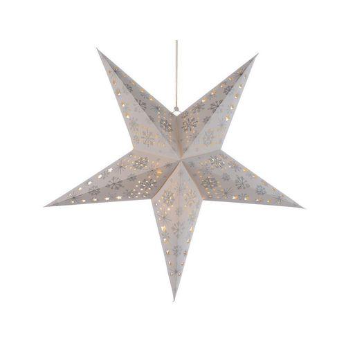 Подвесная светящаяся звезда Свет радости, 60 см, с серебристым принтом kimbe 3x6 метр студия хлопок черный фон ткань фотография свет заполнить свет фото фон видеокамера мягкий свет выстрел студийное оборудование