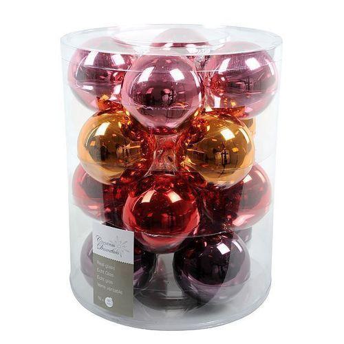 """Набор стеклянных шаров """"Маскарад"""", 80 мм, 16 шт."""