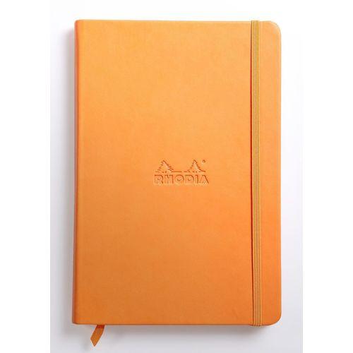 Блокнот Rhodiarama А5, 96 листов, в линейку, оранжевый бордюр mainzu milano 13395 torelo blue 3х20
