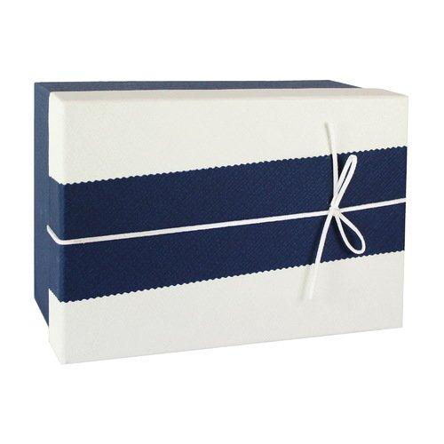 Коробка с бантиком, средняя, сине-бежевая, 18 х 18 х 8 см кружка бежевая 8х9 8 см