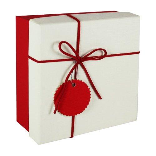Коробка с бантиком, маленькая, красная, 16 х 16 х 7 см
