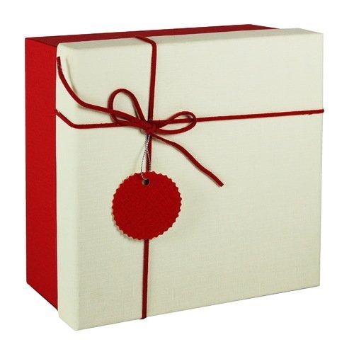 Коробка с бантиком, большая, красная, 20 х 20 х 10 см стоимость