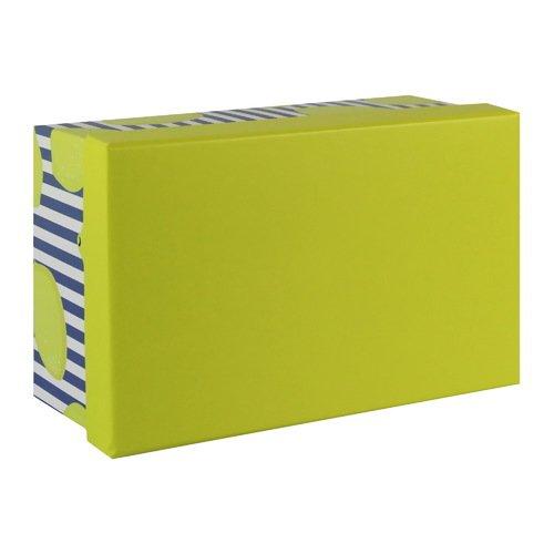 Подарочная коробка Лимоны, 19 х 12,5 х 8 см коробка подарочная veld co giftbox трансформер paris под бутылку цвет бежевый 34 4 х 8 2 х 8 2 см