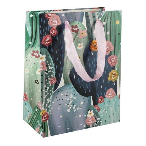 Подарочный пакет Кактусы А5, 18 х 23 х 10 см