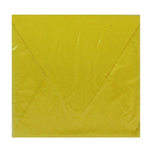Конверт подарочный С1, желтый, 10 х 10 см конверт подарочный дарите счастье хорошего дня цвет мультиколор 13 х 16 см 2729810