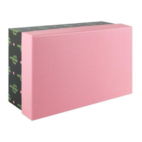 Подарочная коробка Cute cactus, 19 х 12,5 х 8 см коробка подарочная veld co giftbox трансформер paris под бутылку цвет бежевый 34 4 х 8 2 х 8 2 см