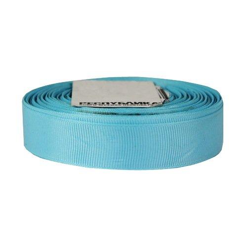 Лента репсовая, 20 мм, голубая (цена за 1 м)