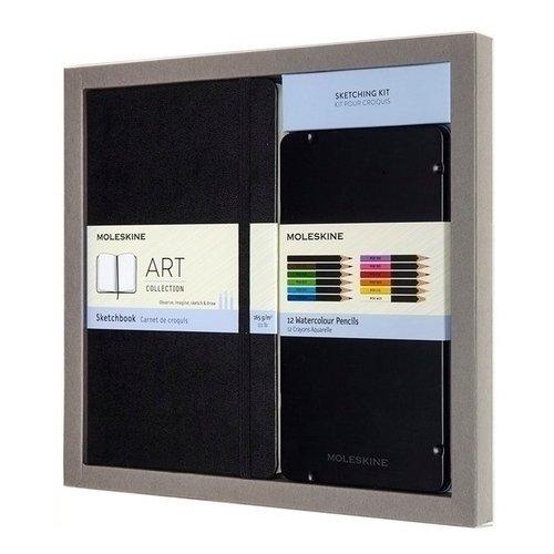 Набор Art Collection Sketching. Блокнот для рисования Large, акварельные карандаши набор art collection sketching блокнот для рисования large акварельные карандаши
