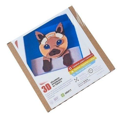 Фото - Объемная аппликация из бумаги Котенок 3D саломатина е ред объемная аппликация цыплята