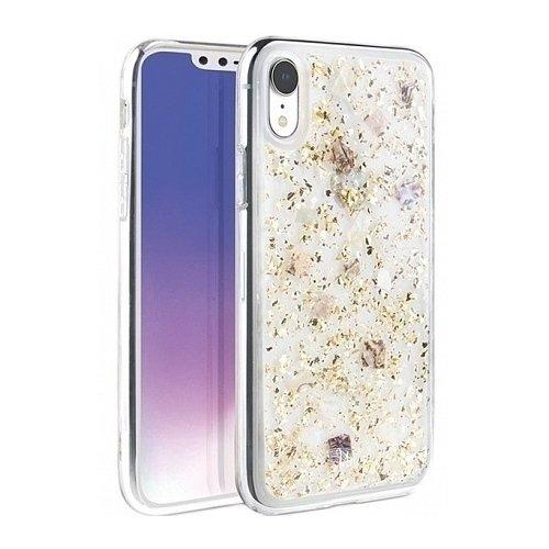 Чехол  Lumence Clear для iPhone XR, золотистый клип кейс uniq lumence clear для apple iphone xs max розовое золото