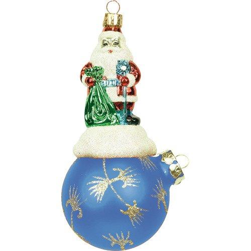 Украшение Дед Мороз на шаре BD 60-625/201, 11 см украшение дед мороз на шаре bd 60 625 201 11 см