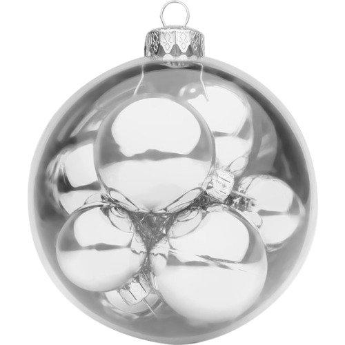 Шар с 10 шарами BC-IB-S-140, 10 см, серебристый mister christmas набор коллекционных шаров 2016