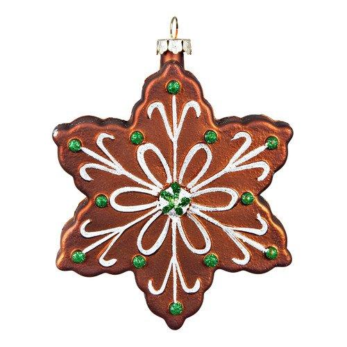 """Украшение """"Снежинка"""" CD-08, коричневое украшение снежинка красная christmas house"""