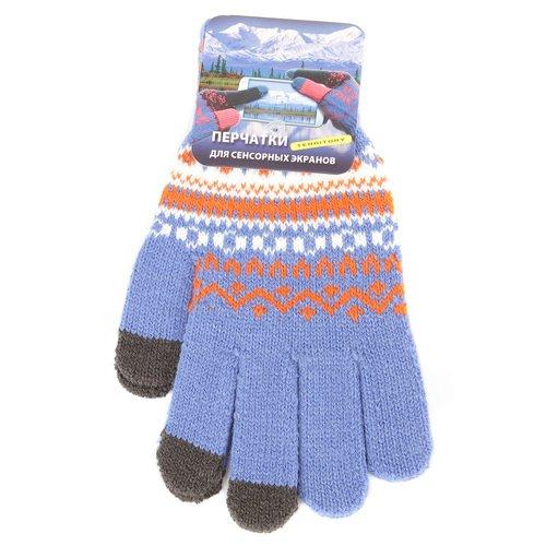 Перчатки для сенсорных экранов 1515, голубые теплые перчатки для сенсорных дисплеев liberty project олени s violet r0000503
