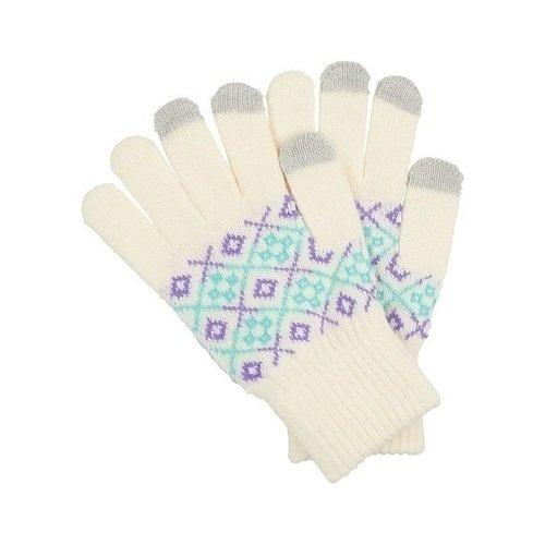 Перчатки для сенсорных экранов 0314, белые теплые перчатки для сенсорных дисплеев liberty project олени s violet r0000503
