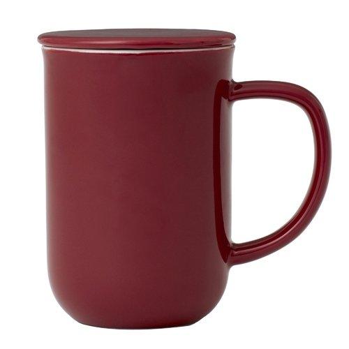 Чайная кружка с ситечком Minima, 0,5 л, бордовая музыка звучит в последний раз