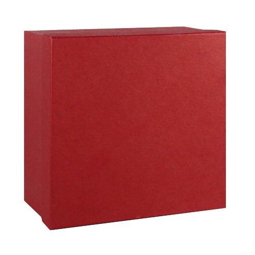 Подарочная коробка, красная, 16 х 16 х 8 см коробка подарочная veld co giftbox трансформер paris под бутылку цвет бежевый 34 4 х 8 2 х 8 2 см
