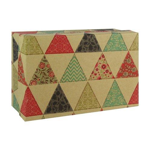 Подарочная коробка Треугольники, 21 х 14 х 8 см коробка подарочная veld co giftbox трансформер paris под бутылку цвет бежевый 34 4 х 8 2 х 8 2 см